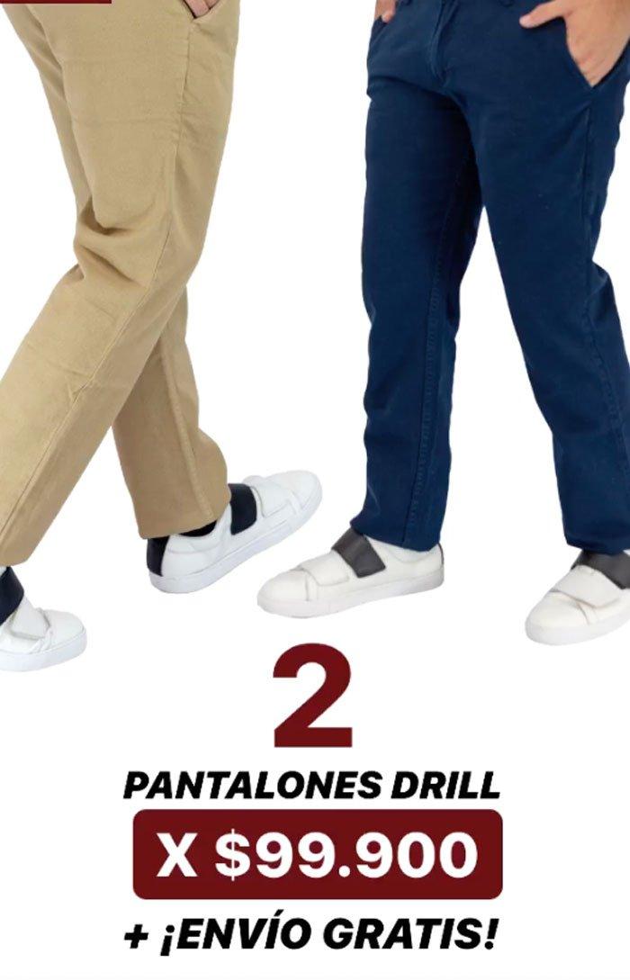 Combo X2 Pantalones Drill Manpotsherd